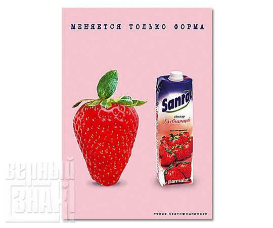 Плакат «Santal» Клубника