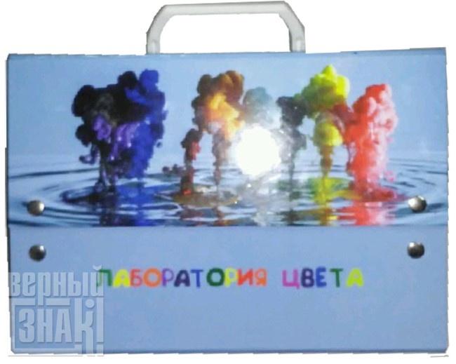 Папка-портфель с ручкой на магнитах Лаборатория цвета