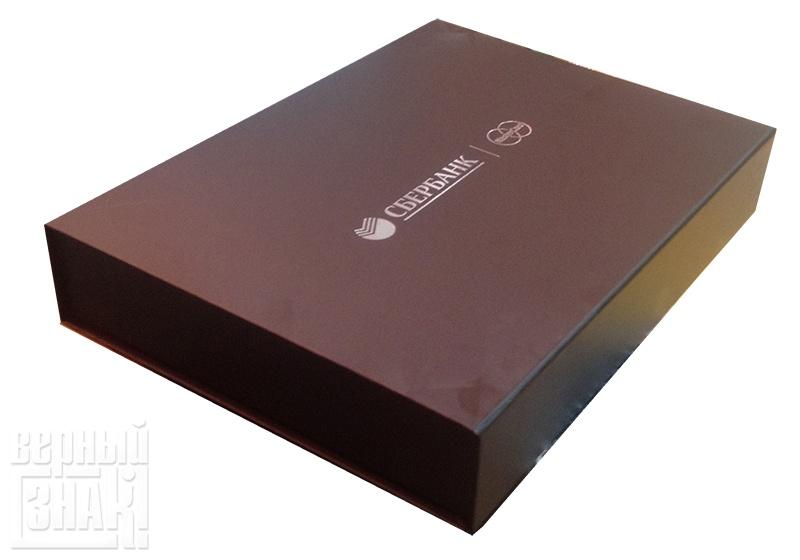 УФ печать на подарочной коробке Сбербанк